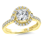 Valina Halo Engagement Ring Mounting in 14K Yellow Gold (.41 ct. tw.)