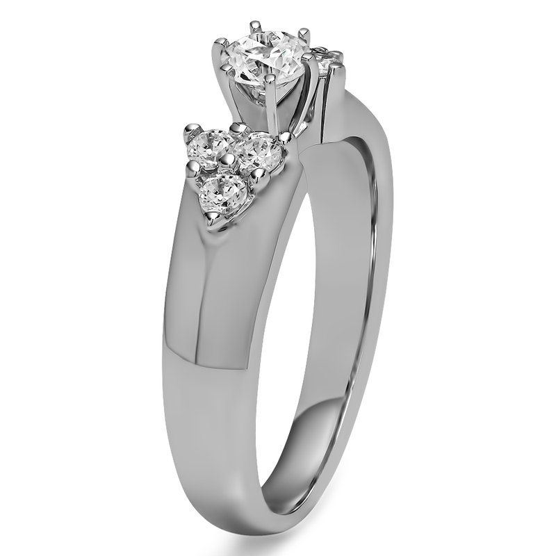 ring diamond band platinum jewelry lyst metallic eternity half de beers classic in