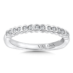 Valina Stackable Wedding Band in 14K White Gold (.19 ct. tw.)