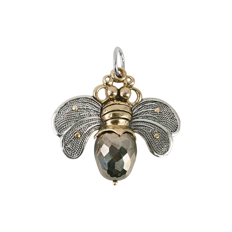 Waxing Poetic Bee Brave Pendant - Pyrite