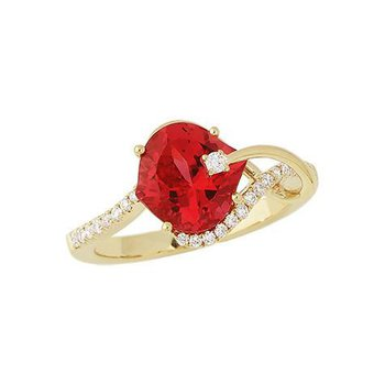 Padparadscha Ring-CR8223YPD