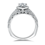 Valina Diamond Engagement Ring Mounting in 14K White Gold (.28 ct. tw.)