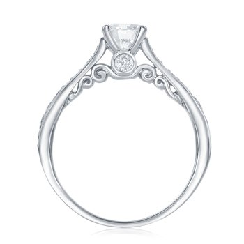 HAPPY DIAMOND SCROLL II RING