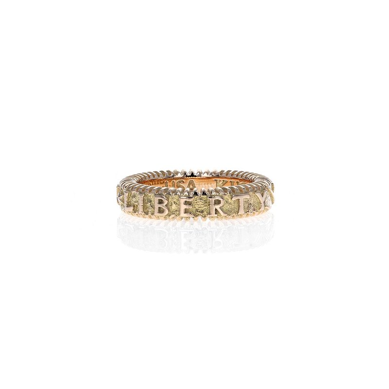 King Baby Gold Liberty Stackable Ring