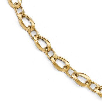 Leslie's 14K Polished D/C Fancy Link Bracelet