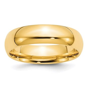 14k 6mm Comfort-Fit Band