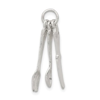 Sterling Silver Knife, Fork & Spoon Charm