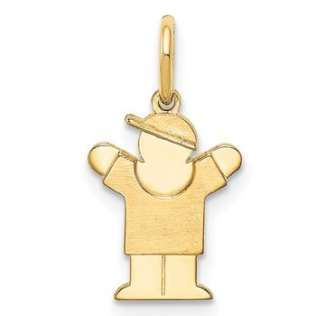 14k Mini Boy Love Charm