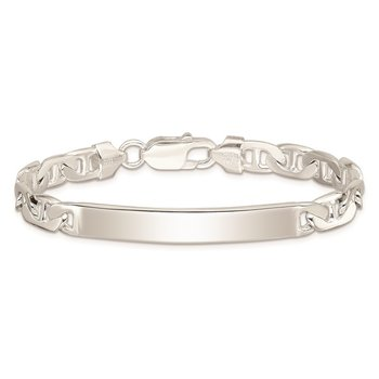 Sterling Silver Anchor ID Bracelet
