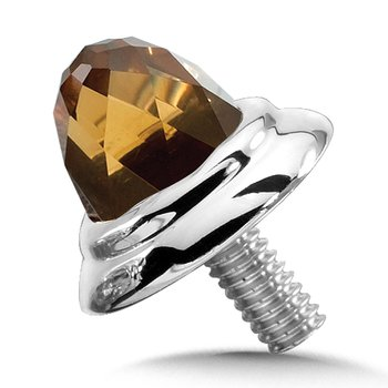 Sterling Silver Honey Citrine Cap