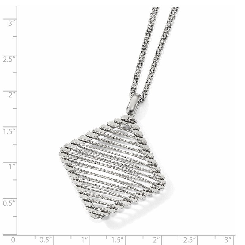 Leslie's Leslie's Sterling Silver Rhodium-plated CZ Necklace