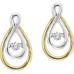 Necker's Signature Collection 14K Diamond Rhythm Of Love Earrings 1/8 ctw