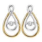 Rhythm of Love 14K Diamond Rhythm Of Love Earrings 1/8 ctw