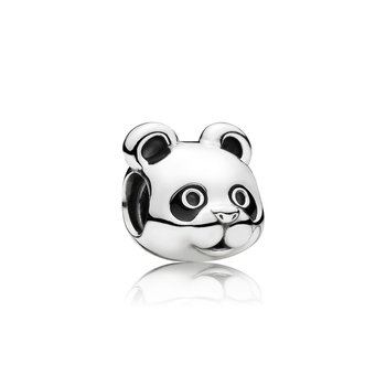 Peaceful Panda, Black Enamel