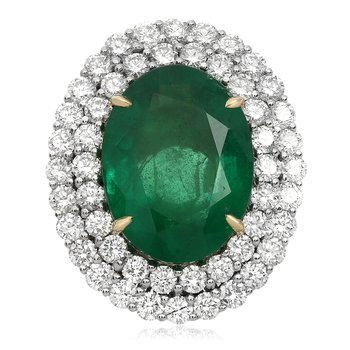 Sixteen Carat Platinum Emerald Ring