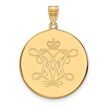 Gold College of William & Mary NCAA Pendant