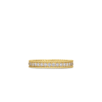 Princess Ring With Diamonds &Ndash; 18K Yellow Gold