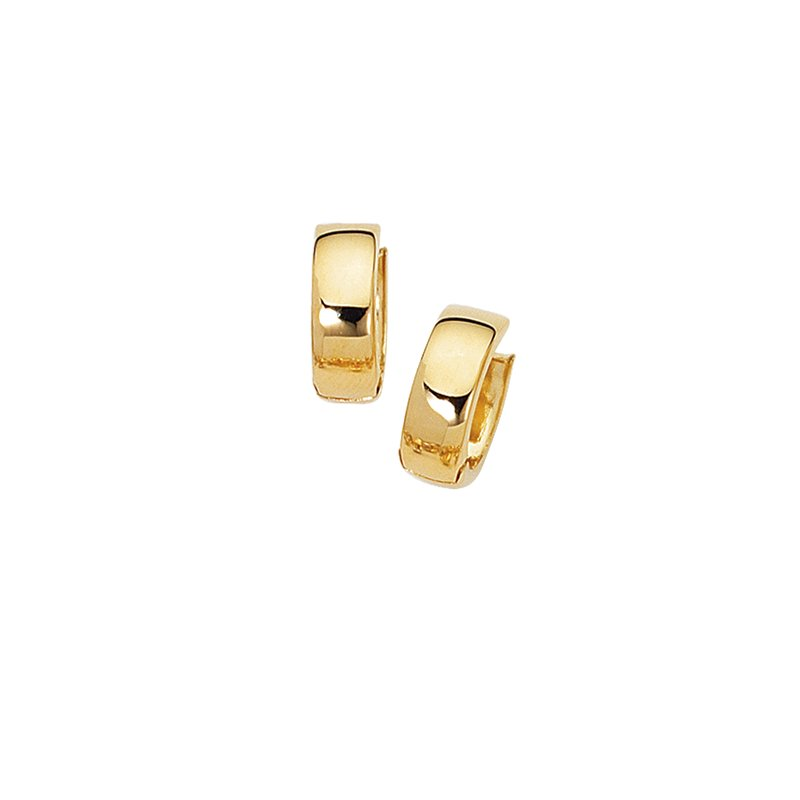 Royal Chain 10K Gold Polished Huggie Earring
