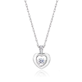 10kw 1/8ctw Heartbeat Collection Pendant
