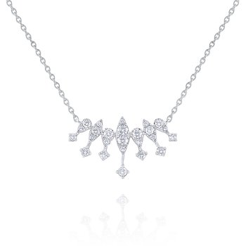 14k Gold and Diamond Princess Necklace
