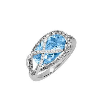 Aqua Blue Spinel Ring-CR11899WAQ
