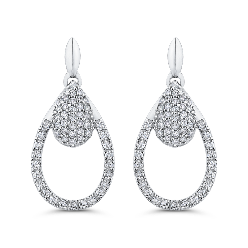 Essentials 10K White Gold 1/2 Ct Diamond Fashion Earrings