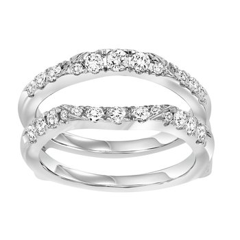 14K Diamond Insert Ring 3/4 ctw