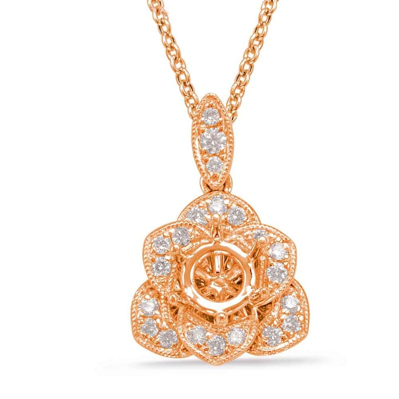 S. Kashi  & Sons Diamond Pendant For 0.33ct Round