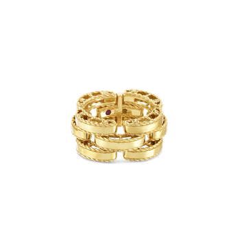 #28375 Of 18Kt Gold Retro Link Ring