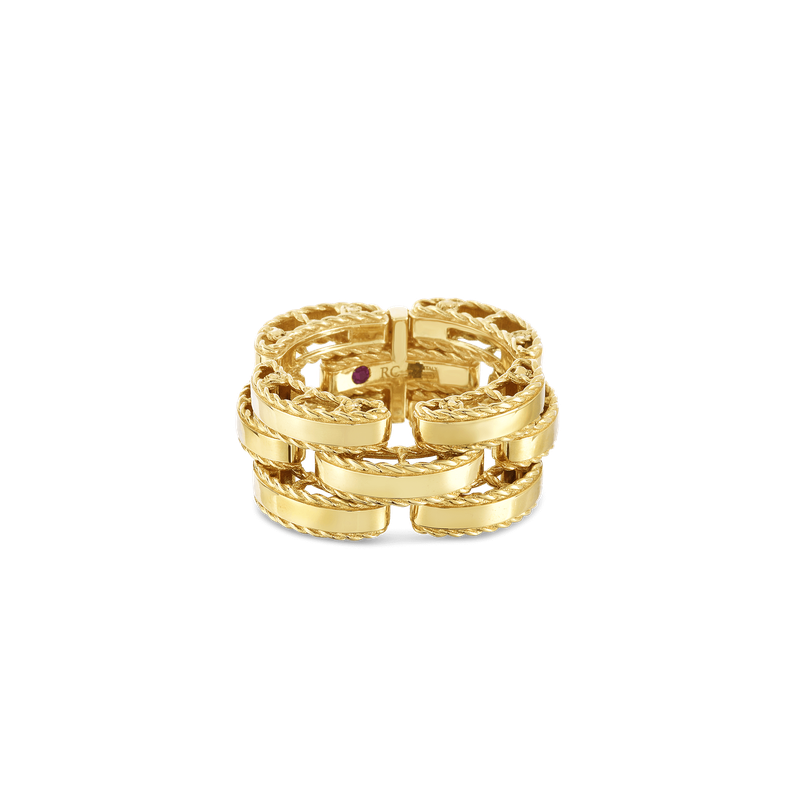 Roberto Coin 18KT GOLD RETRO LINK RING