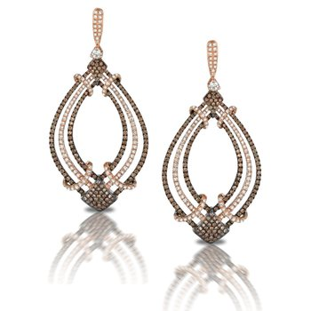 Mocha Mosaic Chandelier Earrings