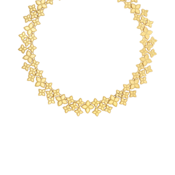 18Kt Gold Wide Link Collar