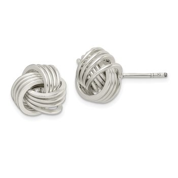 Sterling Silver Polished Knot Post Earrings