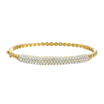 14K CLASSIC BANGLE WITH 133 DIAMONDS 3.32CT