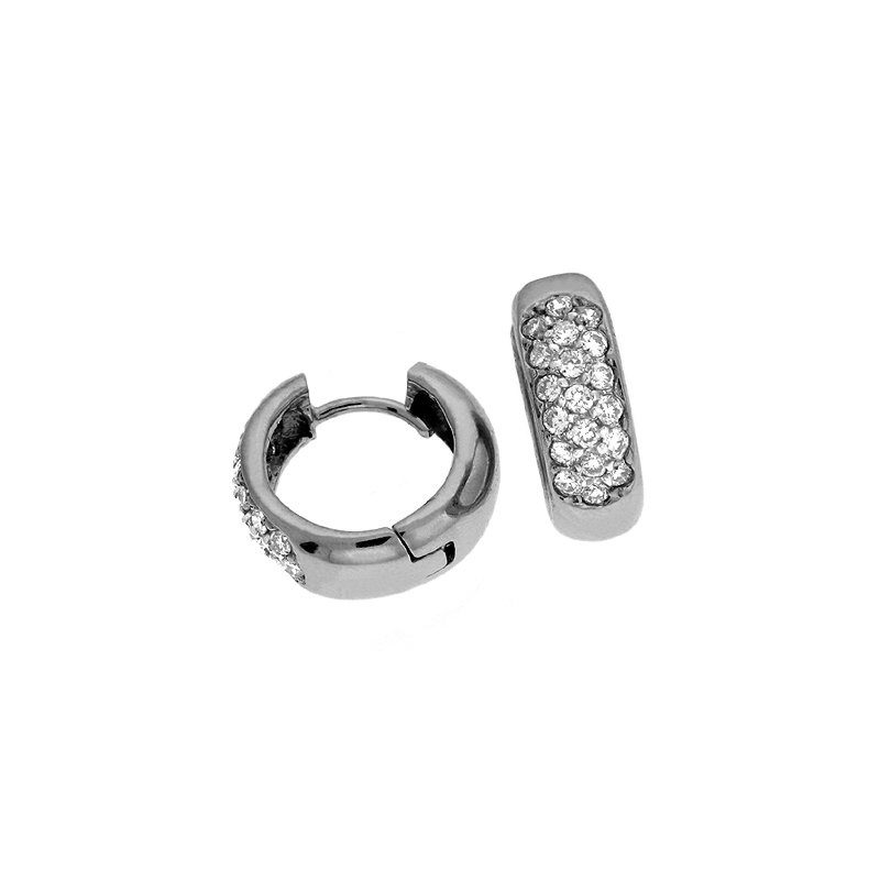 S. Kashi  & Sons White Gold Pave Earring