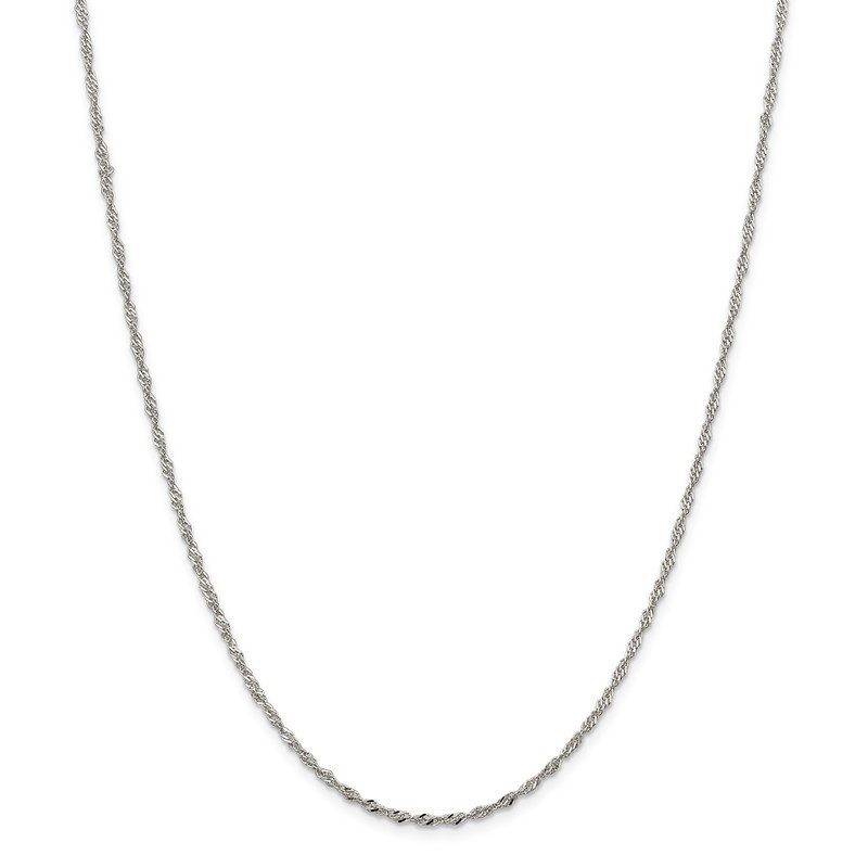 Quality Gold Sterling Silver 2mm Singapore Chain