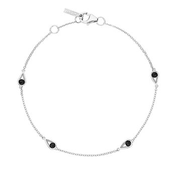 4-Station Open Crescent Bracelet with Black Onyx