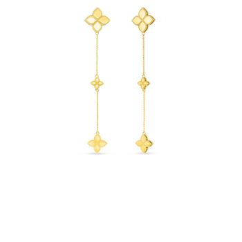 18KT GOLD LONG DROP EARRINGS