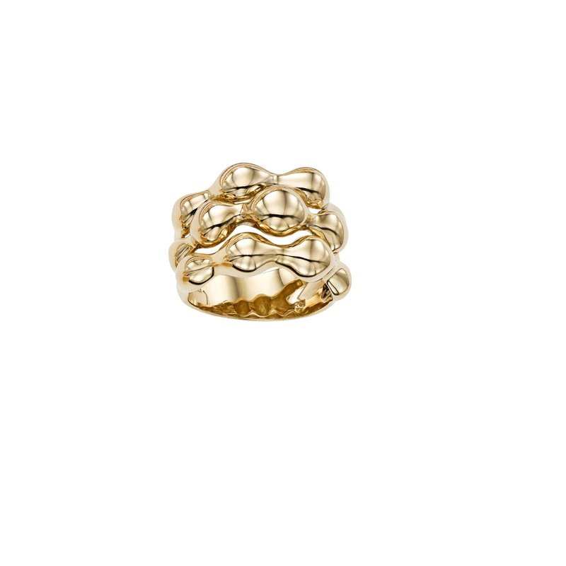 Royal Chain 14K Gold Bubble Ring
