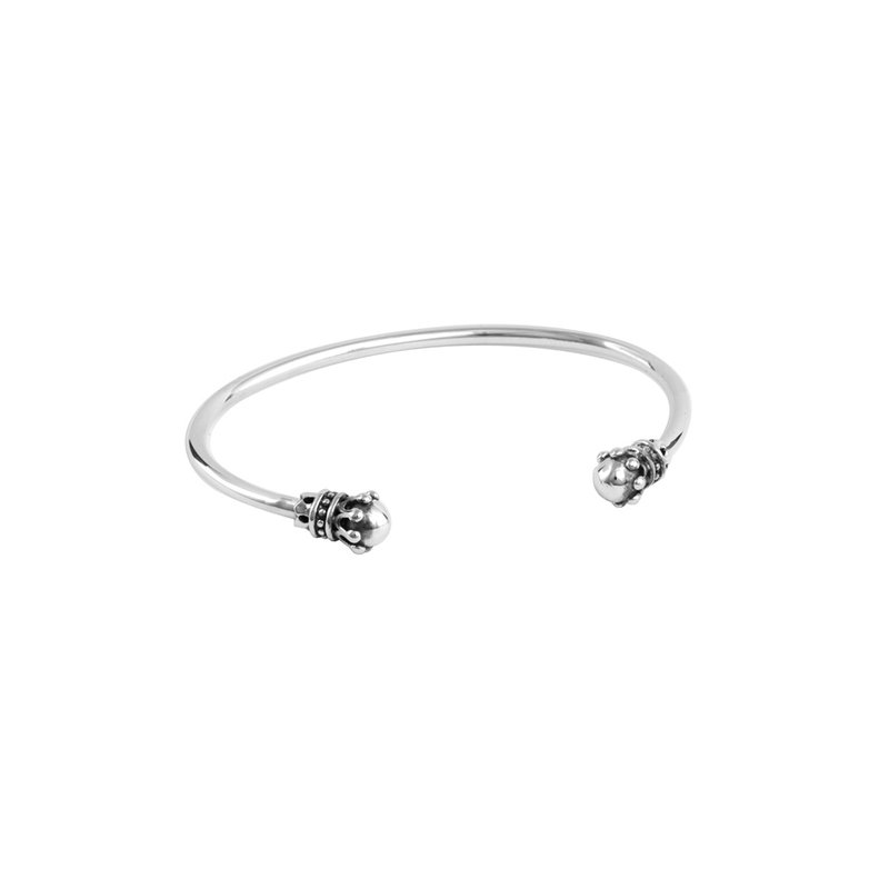King Baby Thin Wire Cuff W/ Crowns