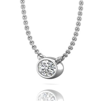 The Forevermark Tribute™ Collection Oval Diamond Necklace