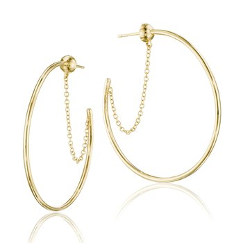 The Melissa Chain-Linked Hoop Earrings