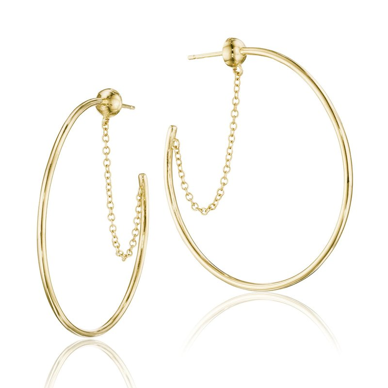 Tacori Fashion The Melissa Chain-Linked Hoop Earrings