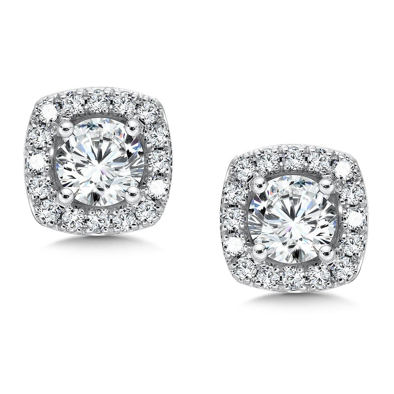 SDC Creations Diamond Earrings in 14k White Gold