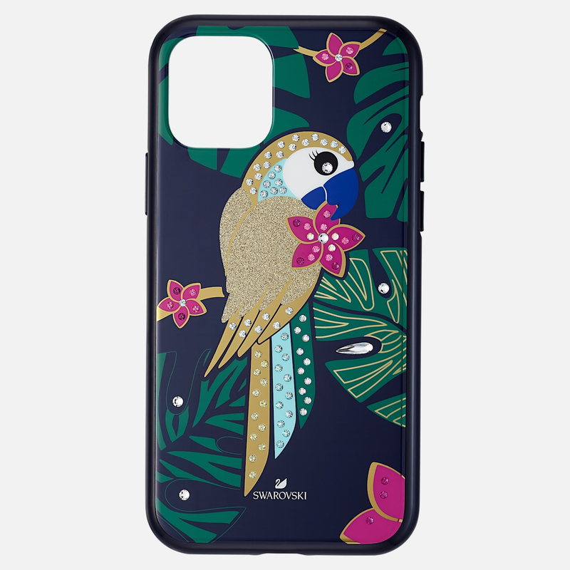 Swarovski Tropical Parrot Smartphone Case with Bumper, iPhone® 11 Pro, Dark multi-colored