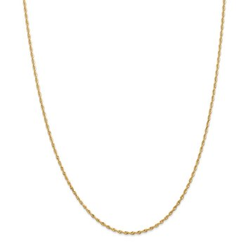 14k 1.85mm Diamond-cut Quadruple Rope Chain Anklet