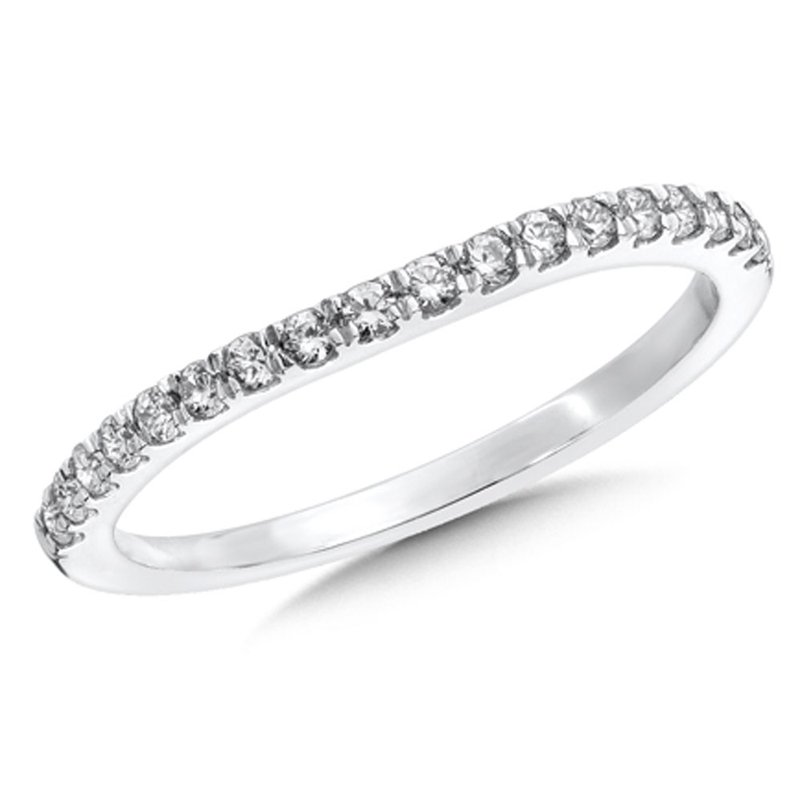 SDC Creations Pave set Curved Diamond Wedding Band 14k White Gold (1/4ct. tw.)