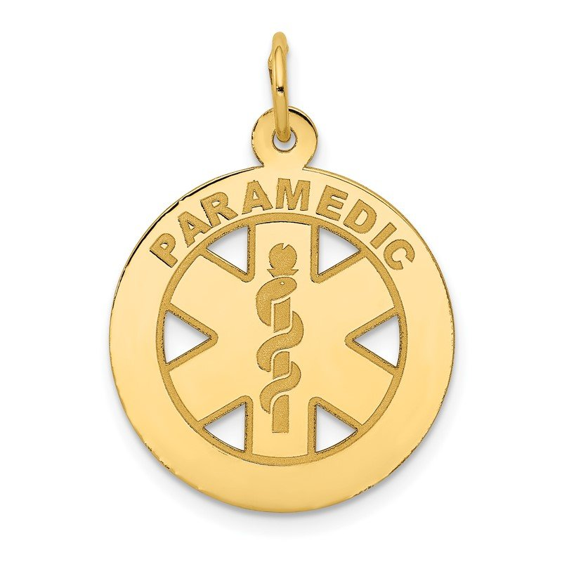 Quality Gold 14k Medium PARAMEDIC Medical Pendant