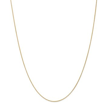 14K .7mm Round Parisian Wheat Chain