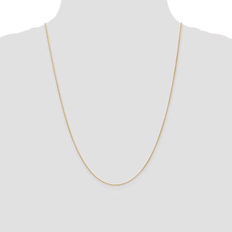 Quality Gold 14K .7mm Round Parisian Wheat Chain